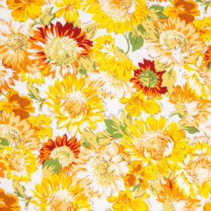 Sunflowers (Yellow) Cotton Poplin Print