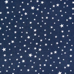 Twinkle Stars (Navy) Cotton Poplin Print
