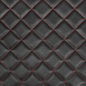 Box Quilted Vinyl, Black/Red