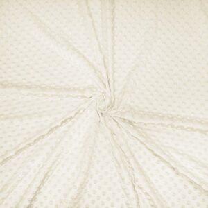 Cuddlesoft Dimple Fabric, Cream