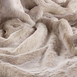 Beige Alaska Fox Faux Fur Fabric