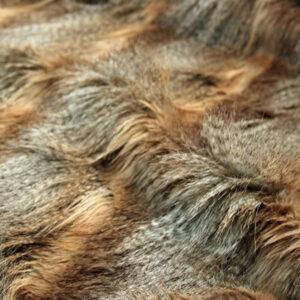 Faux Fur Fabric, Beige Wolf