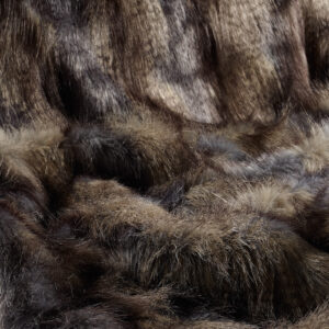 Blue Wolf Faux Fur Fabric
