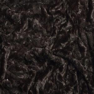 Brown Crushed Faux Fur Fabric