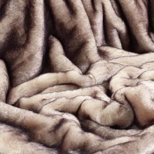 Brown Snow Fox Faux Fur Fabric