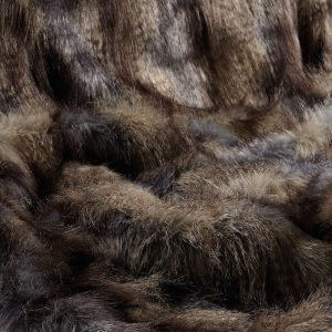 Brown Wolf Faux Fur Fabric