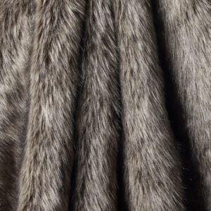 Charcoal Rabbit Faux Fur Fabric