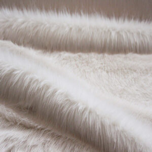 Cream Longhaired Faux Fur Fabric