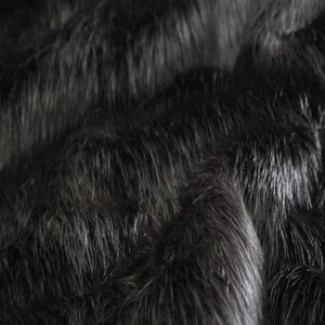 Black Longhaired Faux Fur Fabric