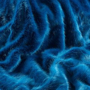 Faux Fur Fabric London Bluestone