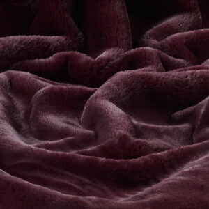 Faux Fur Fabric Luxe Wine