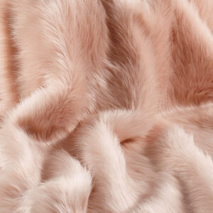 Faux Fur Fabric Rose Pink