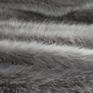Silver Longhaired Faux Fur Fabric