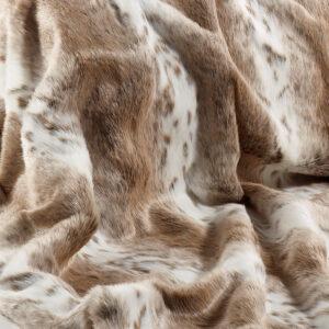 Tan Lynx Faux Fur Fabric