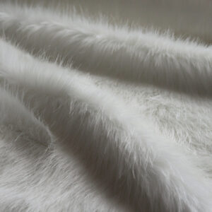 White Longhaired Faux Fur Fabric