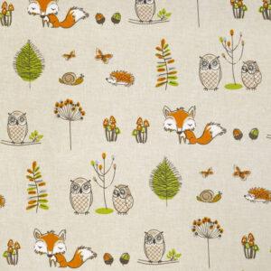 Woodland Fox Multi Fabric by Fryett's Fabrics
