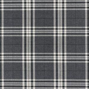 Glen Eagles Fabric, Charcoal Check Flat