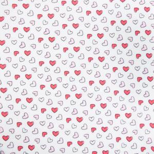Have a Heart (White) Cotton Poplin Print