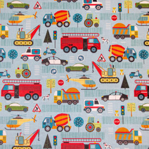 Around Town (Road) Fabric by Nutex, Cotton Print