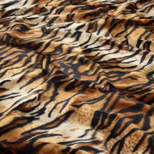 Ponkyskin Velboa Fabric, Tiger