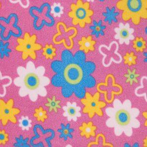 Daisy Cerise Printed Fleece Fabric