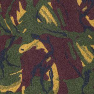 Green Camouflage Printed Fleece Fabric