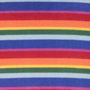 Rainbow Stripe Printed Fleece Fabric