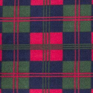 Red Check Printed Fleece Fabric